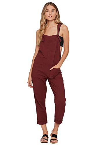 - LSpace Women's Threads Cali Girl Racerback Jumpsuit Swim Cover Up Currant M