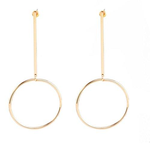 Earrings, Hatop Women Retro Fashion Hoop Earrings (14k Sun Hoop)