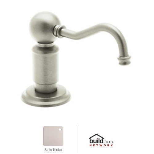 Rowe 4 Hole Kitchen - Rohl LS850PSTN Luxury Soap/Lotion Dispenser with One Touch System to Match Perrin and Rowe, Satin Nickel