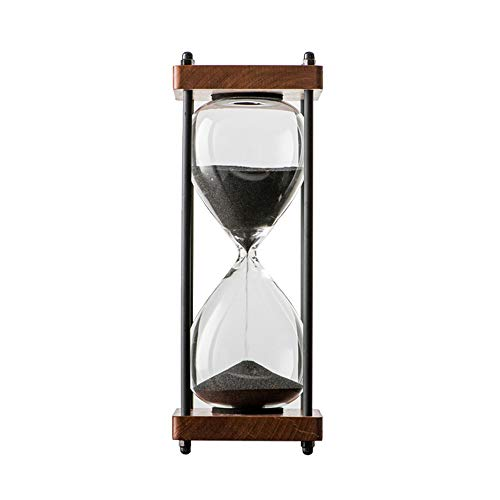 Bellaware Large Hourglass Timer, 30 Minutes Wooden Sand