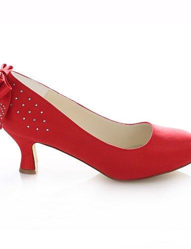 2in 2 4in tacones Y De tacones 3 Boda 3in mujer boda rojo Fiesta Zq Noche Punta Redonda red Zapatos Vestido 3 wqSRWH