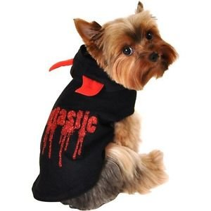 Simply Dog Fangtastic Halloween Dog Hoodie~SMALL~]()