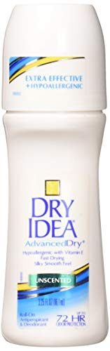 Dry Idea Anti-Perspirant Deodorant Roll-On Unscented 3.25 oz (Pack of 3) (Dry Deodorant)