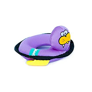 ZippyPaws - Floaterz, Outdoor Floating Squeaker Dog Toy - Walrus, Purple