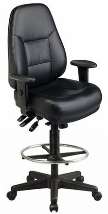 Harwick Multi-Function Leather Drafting Chair