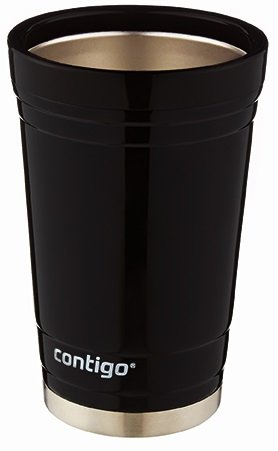 Contigo Party Cup, 16-Ounce, Stainless Steel, Doble Wall vaccum-Insulated, Black