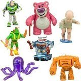 Toy Story 3 Exclusive Villains 7Pack Figurine Playset Buzz Lightyear, LotsOHuggin Bear, Big Baby, Twitch, Chunk, Stretch and (Toy Story Buttercup)