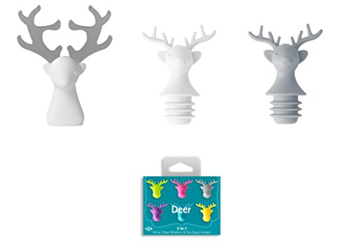 nod products Deer Antlers Silicone Handled Stainless Steel Bottle Opener