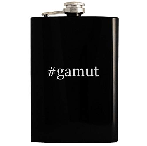 - #gamut - 8oz Hashtag Hip Drinking Alcohol Flask, Black