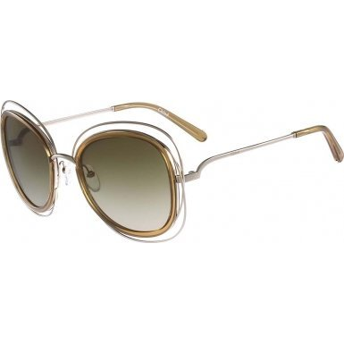 Chloe Women's Carlina Gold/Transparent Light Brown - Carlina Chloe Sunglasses