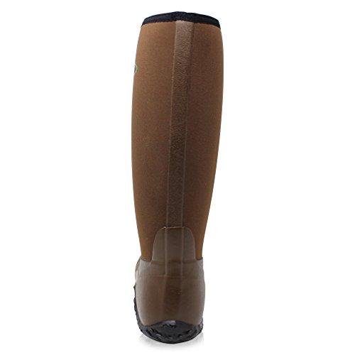 Noprne Bottes Field Hommes Marron Pche Boot En Muck De Femmes Wellies Dirt Pour Wellington Z8Fn8U