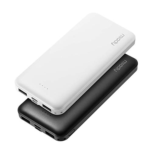 Miady 2-Pack 10000mAh Power Bank Portable Charger, Fast Charging External Battery Pack with USB-C (Input Only) Compatible with iPhone, Samsung, Huawei, iPad, and More