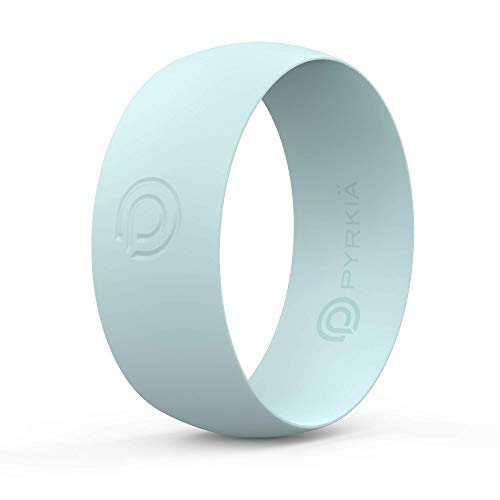 Pyrkia Silicone Rings | All-Activity, All-Weather, Waterproof, Medical-Grade Silicone Jewelry | (Mint, Size -