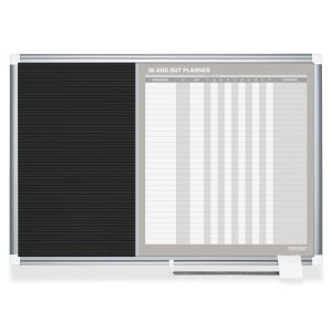 Bi-Silque Visual Communication Products GA0387830 In-Out and Notice Board, 36 x 24 in., Silver Frame by Bi-silque Visual Communication Product, Inc.