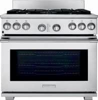 """Electrolux Icon E36DF76GPS Professional 36"""" Stainless Steel Dual Fuel Sealed Burner Range - Convection"""
