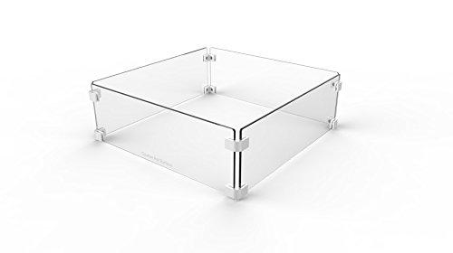 """Paramount WGG‐SQ‐001 22"""" Square Wind Guard Glass"""