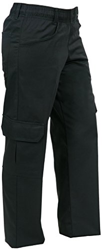 Black Womens Chef Pants (Mercer Culinary M61100BKL Genesis Women's Chef Cargo Pant, Large, Black)