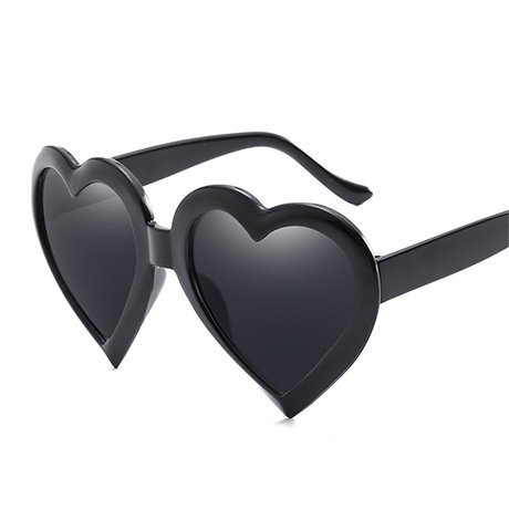 GGSSYY Rosa de para Gafas sol Gift Red sol Black Eye Love de Heart Gafas Rosa Negro Mujeres mujeres Heart Vintage Shape ZSHrZqw