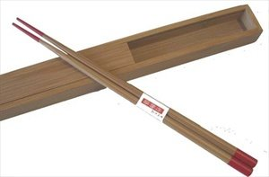 JapanBargain Bamboo Travel Chopsticks with Case, Red #cc72