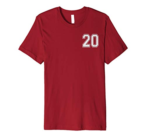 #20 Numbered Team Jerseys Shirt Big # on back Youth or Adult -