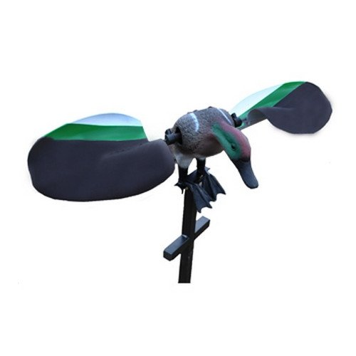Lucky Duck by Expedite Motorized Spinning-Winged Decoy, Teal, 42in. 3pc. Metal Stake 21-21112-0