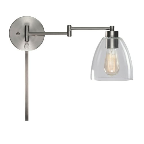 Kenroy Home 33077 Edis Single Light 9-3/4'' High Wall Sconce, Brushed Steel