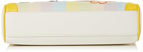 BRACCIALINI TUA Tua by Cartoline, Borsa Tote Donna, Multicolore (Unico), 42x29x10 cm (W x H x L)