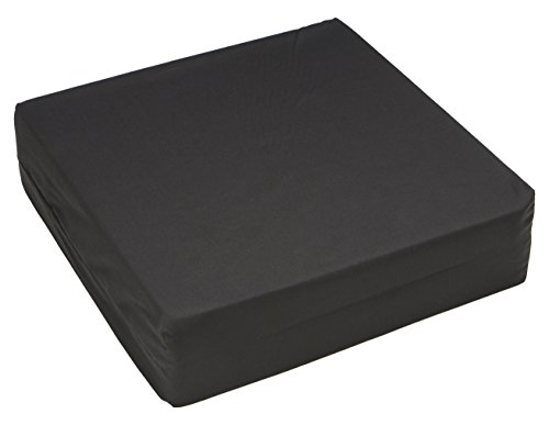 - Hermell Products WC4440BK Wheelchair Cushion, 16 by 18 by 4-Inch, Black