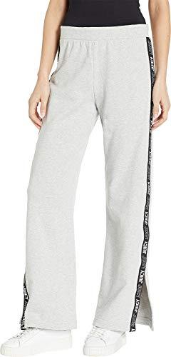 Juicy Couture Women's Juicy Logo Tie Wide Leg Pants Heather Cozy Large 29.5 ()