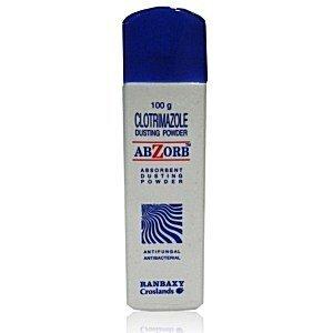 Abzorb Powder 3 x 100 gram Clotrimazole Antifungal Antibacterial Dusting Powder