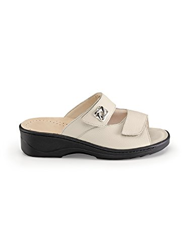 Avena Ladies Alluce Velcro Pantolette Beige