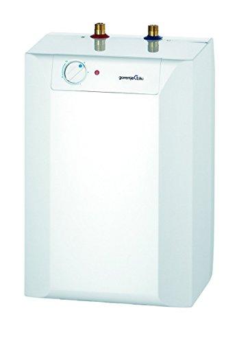 Gorenje TEGS 5 U - Acumulador de agua caliente, 5l, eficiencia energetica A, proteccion bimetalica, 2kW, bajo mueble, sin presion, 1unidad, color blanco