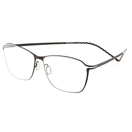 - OCCI CHIARI Titanium Men Rectangular Rimless Eyewear Frames Lightweight with Optical Clear Lens 56mm (Gun)