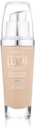 L'Oréal Paris True Match Lumi Healthy Luminous Makeup, C3 Creamy Natural, 1 fl. oz.