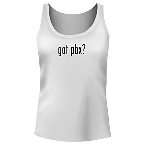 One Legging it Around got PBX? - Women's Funny Soft Tank Top, White, ()