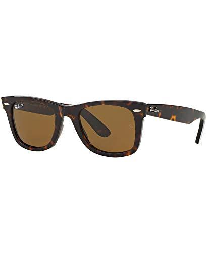 Ray-Ban Original Wayfarer Sunglasses (RB2140 50) Brown/Brown Acetate - Polarized - 50mm
