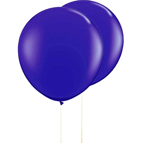 AZOWA Gaint Round Balloons Navy Royal Blue Large Party Balloon Big Latex Balloons for Party Decorations 10 pack 36 inches -