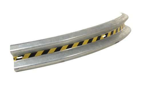 (Vestil GR-8-CRV Galvanized 90 Degree Curved Guard Rail, 96