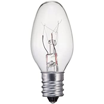 Philips 133876 Clear 15 Watt C7 1 2 Candle Base Ceiling
