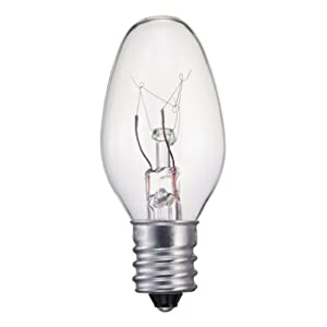 Philips 415422 Incandescent 16 Lumen 4 Watt 2700K Soft White C7 Night Light w/Candelabra Base (4 Pack)