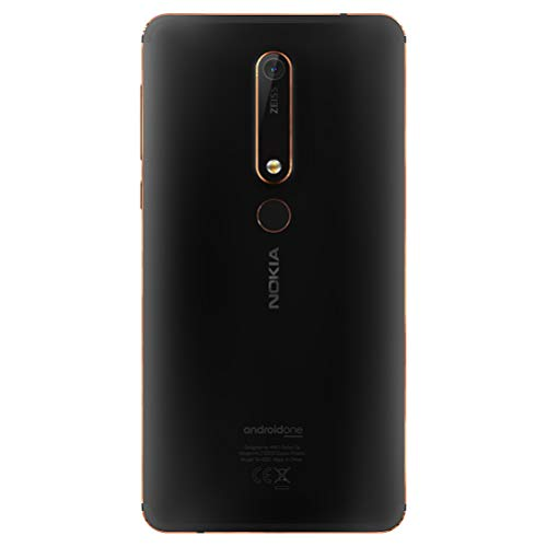 Nokia 6.1 (2018) - Android One (Oreo) - 32 GB - Dual SIM Unlocked Smartphone (AT&T/T-Mobile/MetroPCS/Cricket/H2O) - 5.5
