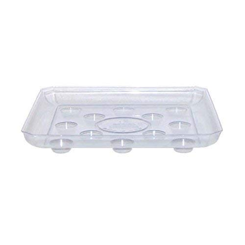 Curtis Wagner Clear Carpet Saver Heavy Duty Square Plant Saucer, 16