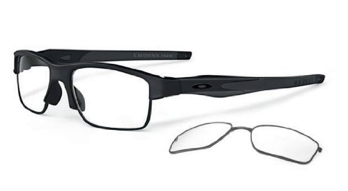 Oakley Mens Crosslink Switch Active Optical Frame, Satin Black/Black/Black, - Oakley Active