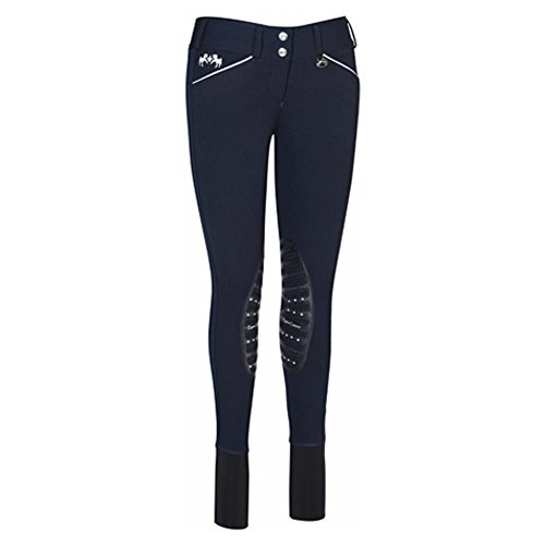 Equine Couture Women's Brittni Knee Patch Breech, Navy, 26