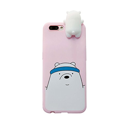 Blue White Polar Ice Bear Soft TPU Case for iPhone 7 Plus / iPhone 8 Plus 5.5