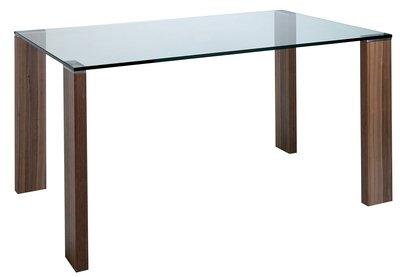 Cyclic Walnut Leg Dining Table Large Amazoncouk Kitchen