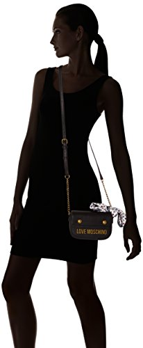 Handbag Chain Negro Black Negro Cross Moschino Love Mujer Body zXHqx