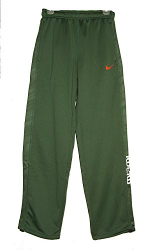 Nike Mens Miami Hurricanes College Warp Fleece Pants Gree...