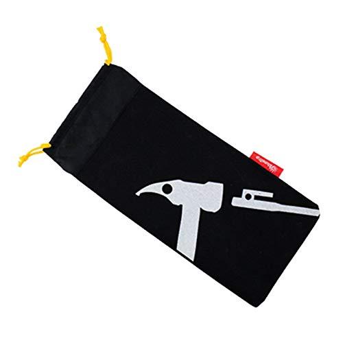 Florenceenid Carpa de tamaño Compacto Carpa para Acampar Peg Hammer Clavo Organizador Estuche Estuche para Black Nails...