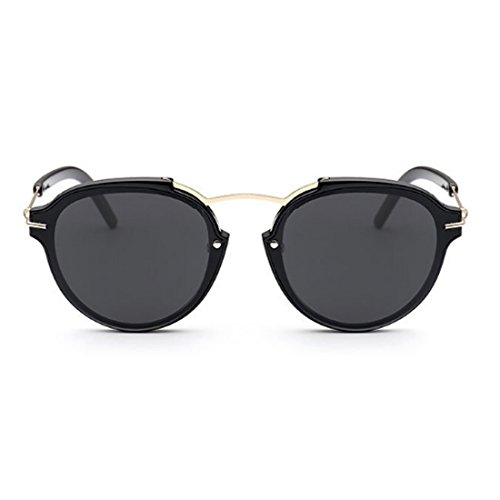 Ko & Will Women Brand Designer Retro Vintage Concave Lens Korean Style Sunglasses 602 - Glasses Korean Brands